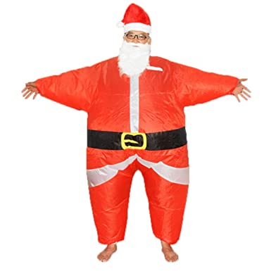 Amazon.com: HHARTS - Disfraz de Papá Noel inflable para ...