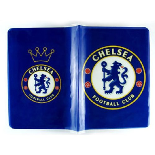 Chelsea FC Blue Logo Passport Cover Holder ~ No more bent corners during travel
