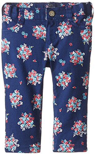The Children's Place Baby Girls'' Floral Printed Jegging, Indigo Sail, 9 12 Months