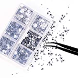 Outuxed 5040pcs Clear Hotfix Rhinestones 6 Mixed