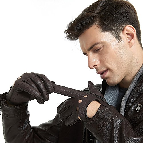 Mens Smart Soft and Luxury Genuine Deerskin Leather Driving Gloves by  ZQ-Collection b65c9e713