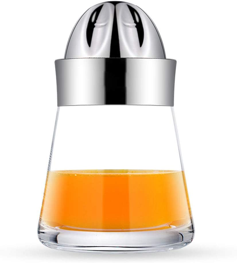 Mano Exprimidor Exprimidor, Manual de la tapa de acero inoxidable de rotación de la prensa de Escariador colador de envases de vidrio, for la bebida de naranja lima limón pomelo Hecho en casa xuwuhz