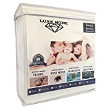 Full Size Luxe Home Luxury Hypoallergenic Waterproof Mattress Protector/Cover - Vinyl Free