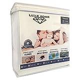 Queen Size Luxe Home Luxury Hypoallergenic Waterproof Mattress Protector/Cover - Vinyl Free