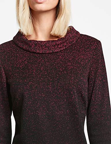Kleid Gewebe GERRY bordeaux mit WEBER Stehkragen Modischem rot Schwarz Kleid 4qSwBxtSH