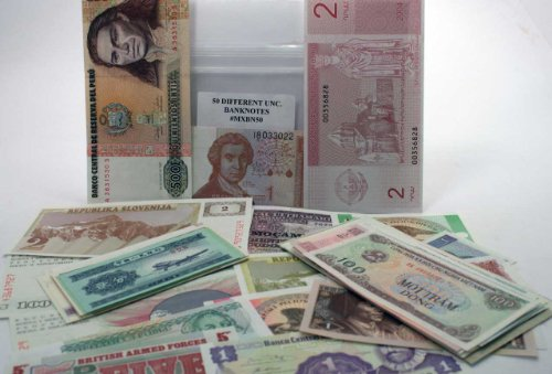 Uncirculated Set of 50 Different World Banknotes,Mint Lot,From ANA Platinum Member # 3163853 Free Shipping