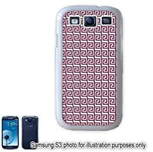 Maroon Tribal Aztec Mayan Pattern Samsung Galaxy S3 i9300 Case Cover Skin White