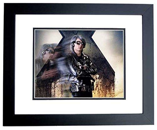 evan-peters-signed-autographed-x-men-quicksilver-8x10-photo-black-custom-frame