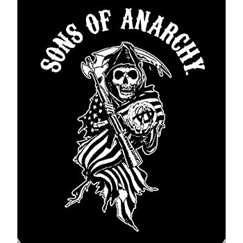 Amazon Com Reaper Flag Sons Of Anarchy Super Plush Throw