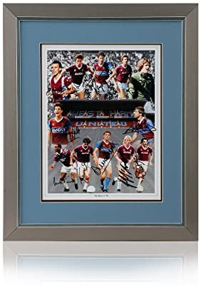 West Ham United Boys of 86 hand signed montage by 12