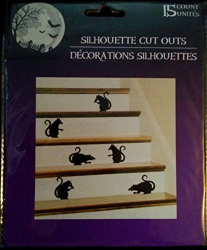 Haunted House Silhouette Cut Outs - Bats, Package of 15 by Greenbrier ()