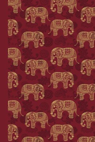 Design Sketchbook - Sketchbook: Elephant Pattern (Red) 6x9 - BLANK JOURNAL NO LINES - unlined, unruled pages (Patterns & Designs Sketchbook Series)