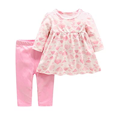 275bba044 Amazon.com  JooNeng Baby Infant Girl Cotton Romper Pink Cloud ...