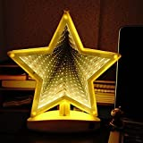 Tunnel Lamp Double-Side Infinity Light Tunnel LED Light 3D Infinity Mirror Light Star Sign Night Light Sensory Party Decor for Christmas, Birthday Party, Kids Room, Living Room
