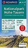 Nationalpark Hohe Tauern, Großvenediger, Großglockner, Ankogel: 3 Wanderkarten 1:50000 im Set inklusive Karte zur offline Verwendung in der ... Skitouren. (KOMPASS-Wanderkarten, Band 50)