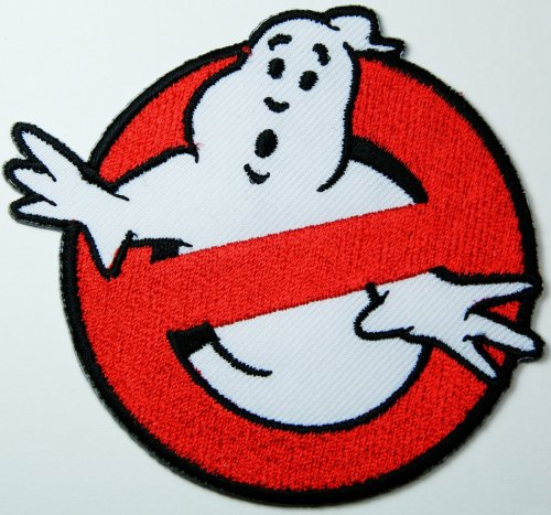 Et Ghost Costume (Ghost Busters Movie Patch 7x7 Cm Patch Sew Iron on Logo Embroidered Badge Sign Emblem Costume BY Dreamhigh_skyland)