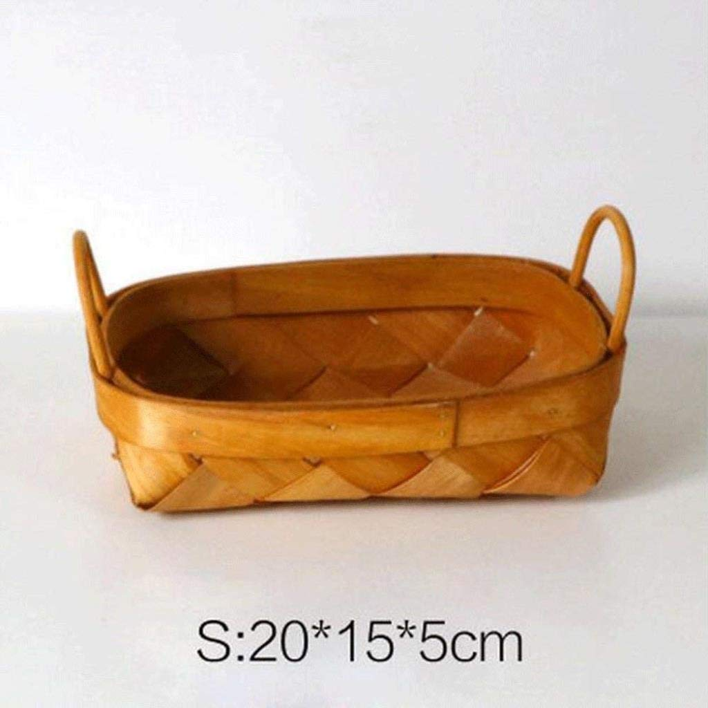 RDMZ Crafts Creative Arts Oval Storage Storage Basket Rattan Snack Basket Egg Basket Basket Desktop Finishing Box