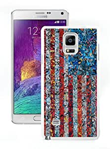 Case For Samsung Note 4,USA flag marvel collage White Samsung Note 4 Case Cover