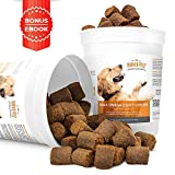 MAX Fish Oil for Dogs - Omega 3 Chews 54,000mg per Jar. Allergy Support + Itchy Skin Relief + Shiny Coat + Natural Hip Joint Supplement. Rich in EPA & DHA + Vitamin E. Best Absorption Treats for Pets