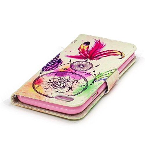 iPhone 6 Plus / 6S Plus Coque,Cloche de couleur Portefeuille Fermoir Magnétique Supporter Flip Téléphone Protection Housse Case Étui Pour Apple iPhone 6 Plus / 6S Plus + Deux cadeau