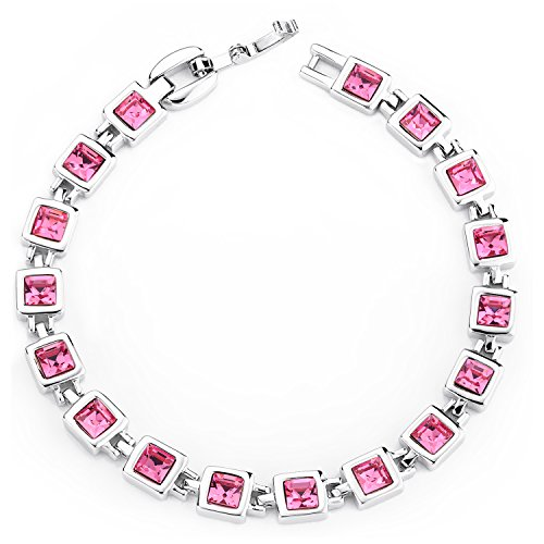 Valentines-Day-Gift-Mondaynoon-Swarovski-Element-Squre-Crystal-Tennis-Bracelets-for-Women-Sky