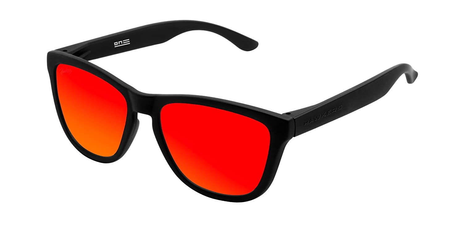 Hawkers Unisex Adults' Carbon Black Ruby One TR18 Sunglasses (Negro/Rojo), 60 O18TR48