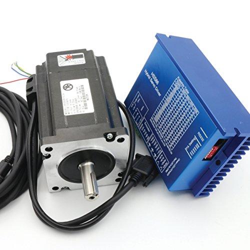 Dc Servo Drive - Nema34 8N.m Closed Loop Stepper Servo Motor 116mm 6A 2 Phase+HSS86 Hybrid Servo Motor Driver Controller 70V/AC 100V/DC CNC Kit for CNC Router Engraving Milling Machine