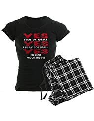 CafePress Women's Dark Pajamas - Girls Softball Women's Dark Pajamas