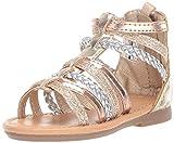 carter's Girl's Fenna Braided Gladiator Sandal, Multi, 8 M US Toddler