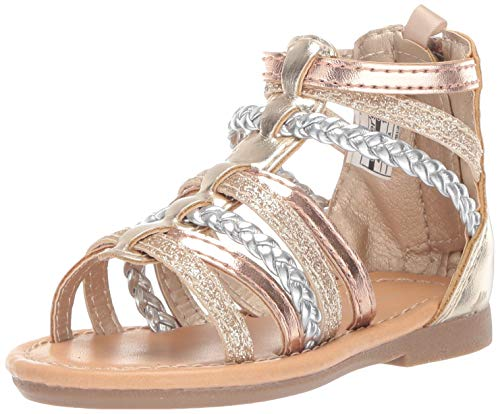 carter's Girl's Fenna Braided Gladiator Sandal, Multi, 4 M US Toddler]()