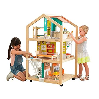 Amazon Com Kidkraft So Stylish Mansion Wooden Dollhouse Multi