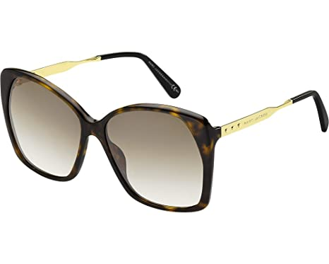 00b08727c8ee2 Amazon.com  Sunglasses Marc Jacobs 614  S 0ANT Dark Havana Gold   CC ...
