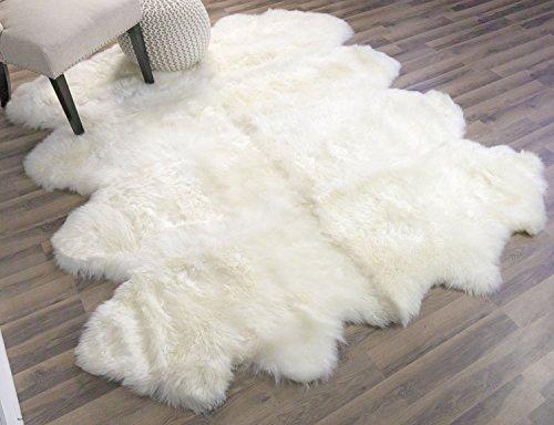 Genuine Australian Super Soft Sheepskin Rug Large Eight Pelt Natural  Non Dyed Fur, Approx. 6ft. X 6ft.