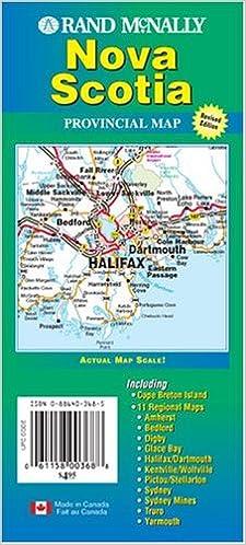 Map Of Canada Nova Scotia.Rand Mcnally Nova Scotia Canada Provincial Map Rand Mcnally And