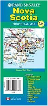 Rand McNally Nova Scotia Canada Provincial Map Rand McNally And - Nova scotia map