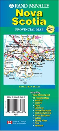 Rand McNally Nova Scotia: Provincial Map