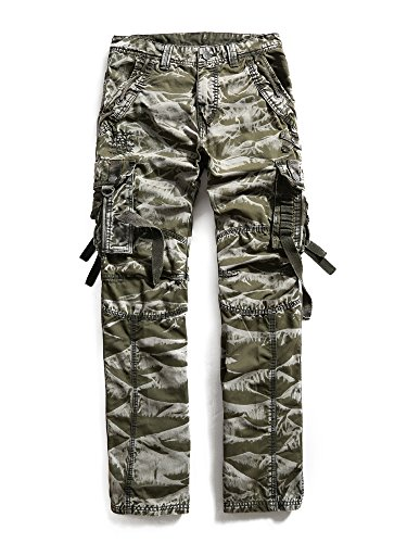 Men's 100% Cotton Outdoors Camouflage Cargo Military Pants #3235 Army Camo 31