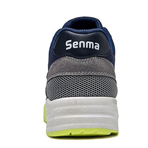 Blue and Casual Sneakers Sports Gray Lacing Senma Fashion Mens Mesh Dycarfell Flat SAHPvRq