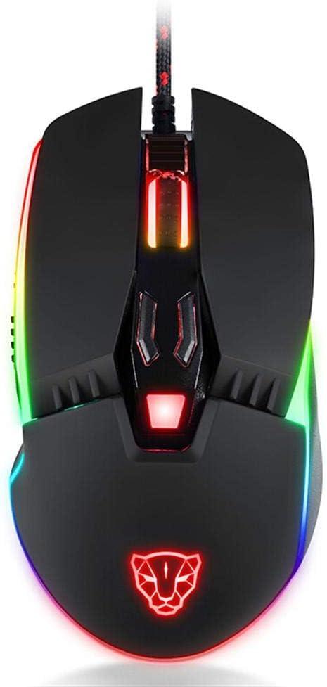 Motospeed ゲーミングマウス V20 有線 5000DPI RGB バックライト 光学式マウス PC用