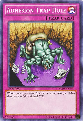 Edition 1st Trap (Yu-Gi-Oh! - Adhesion Trap Hole (LCJW-EN274) - Legendary Collection 4: Joey's World - 1st Edition - Common)