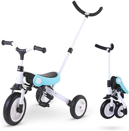 HUIHUAN Triciclo 3 en 1, Bicicleta para niños, Marco de aleación de Aluminio, Ligero y Plegable, Peso del rodamiento 25 kg, Adecuado para bebés de 1 a 5 años: Amazon.es: Hogar