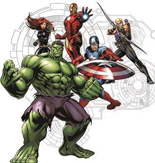 Amazon.com: Grupo 9 inch Marvel Avengers Assemble Hulk, Iron ...