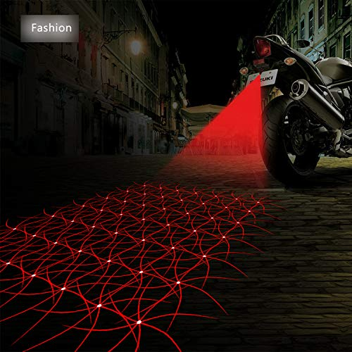FOLCONROAD Anti Collision Rear-end Car Laser Tail Fog Light Auto Brake Parking Lamp Rearing Warning Light Motorcycle[Fashion] -