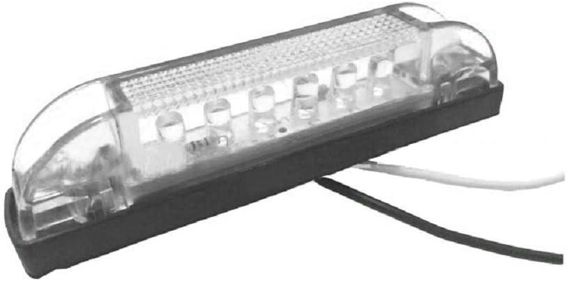 Sunwan Luz de posici/ón lateral 6 LED, 12 V, impermeable, para remolques, camiones y camiones
