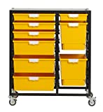 StorSystemUSA CE2400PY 9 Tray Swift & Nimble Primary 'Combo Line' Metal Cart, Yellow