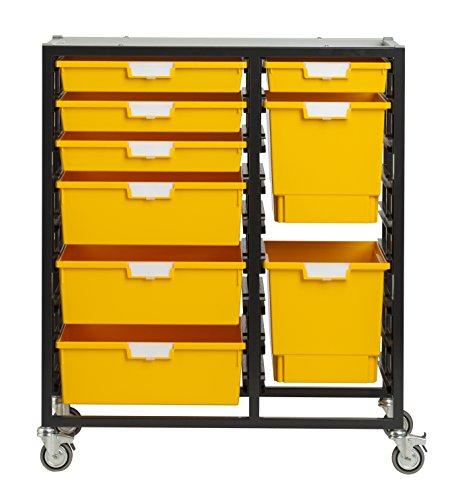 StorSystemUSA CE2400PY 9 Tray Swift & Nimble Primary 'Combo Line' Metal Cart, Yellow by StorSystemUSA