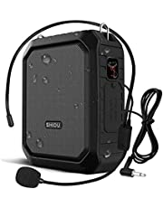 Bluetooth Voice Amplifier Personal Voice Amplifier 18W with Wired Microphone Headset Portable Waterproof Bluetooth Speaker Rechargeable PA System Power Bank for Outdoors,Teachers,Shower,Beach