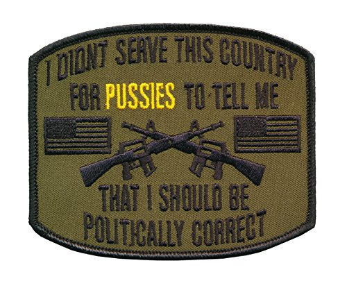 4-14-X-3-12-embroidered-US-Veteran-Patch-Politically-Correctness-Patch-Wax-Backing-Merrowed-Edge-US-Army-US-Marines-US-Navy-US-Air-force-US-Coast-Guard