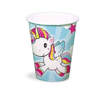 Folat Generique Unicornio Vasos De Plastico Para Ninos 250 Ml