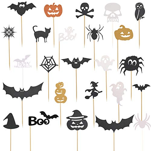 Cupcake For Halloween (75 Pieces Cupcake Toppers Cupcake Picks Halloween Cupcake Decorations for Halloween Birthday Party)